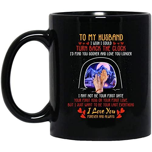 N\A A mi Esposo me gustaría Poder retroceder el Reloj Taza de café de cerámica - 11 oz