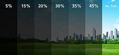 Film Solaire Teinté Autocollant Anti-rayures pour Vitre Fenêtre de voitures 1x Ply