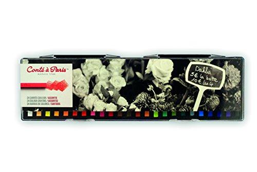 Conté à Paris Colored Crayons Set with 24 Assorted Colors