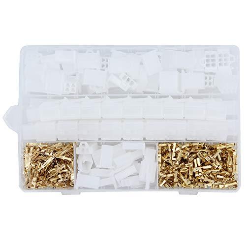 Yuhtech 580 Pcs 2.8mm 2 3 4 6 9 Pin Elektrische Kabelverbinder Pin Header Crimp Kabelklemmen und Buchsengehäuse und Männlich weiblich Pin Header Crimp Kabelklemme