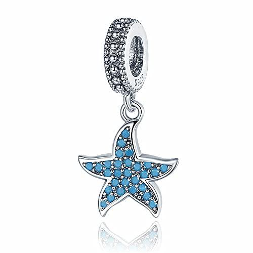YYFHHK Pandach Colgante De Estrella De Mar Charm 925 Sterling Silver Sea Creature Ocean Charms para...