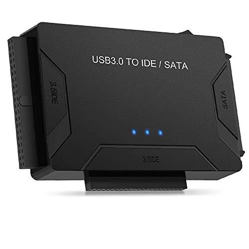 """Anmete Cavo Adattatore USB 3.0 a SATA e IDE Convertitore per 2.5"""" e 3.5"""" IDE SATA Disco Rigido HDD SSD Hard Drive Adattatore da IDE SATA a USB Support 6TB Incluso Adattatore DC 12V 2A Cavo USB 3.0"""