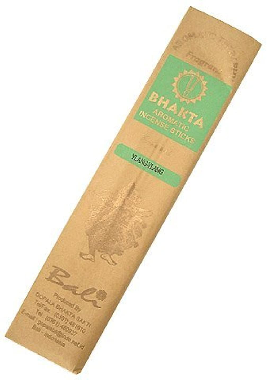 寂しい宿制限するお香 BHAKTA ナチュラル スティック 香(イランイラン)ロングタイプ インセンス[アロマセラピー 癒し リラックス 雰囲気作り]インドネシア?バリ島のお香