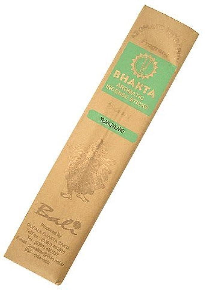 アレイ民主党気づくなるお香 BHAKTA ナチュラル スティック 香(イランイラン)ロングタイプ インセンス[アロマセラピー 癒し リラックス 雰囲気作り]インドネシア?バリ島のお香