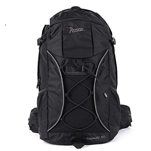 Backpack éclairage extérieur Sac de randonnée imperméable/32L Sac à Dos de randonnée Riding-Black 32L