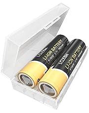 2 baterías planas I86-5O de 3400 mAh, 3,7 V, 10 A, para linternas, faros, timbre, vape.