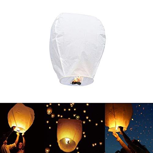 Goefly Kongming Lantern, Oval Sky Lantern Lámparas de Deseo para la Fiesta Cumpleaños de la Boda Linternas del Cielo Chino Linterna de Papel a Prueba de Fuego Que se llevará al Cielo Linterna