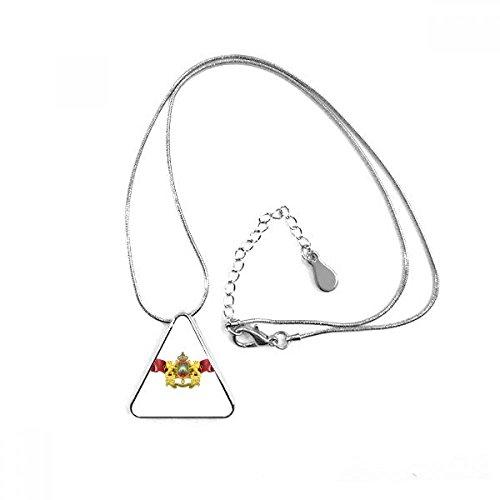 DIYthinker Marokko Flagge National Emblem Triangle Form Anhänger Halskette Schmuck mit Kette Dekoration Geschenk