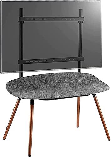 WXHHH Soporte para TV de Piso Soporte de Madera Soporte de TV móvil con Mesa de Almacenamiento de Fieltro Soporte de TV de pie Alto de Haya (Color: Marrón)