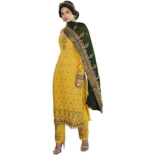 Party Wear Pakistani New Designer Trouser Pant Suits Pakistani Style Shalwar Kameez Dresses (Choice 1, 4 US X-Small (Chest-36 Waist-32))