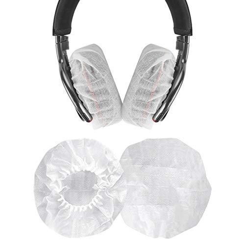 Geekria 10 Pairs Dehnbare Kopfhörer-Abdeckungen, Einweg-Ohrmuscheln für Medium/Large-Sized Over-Ear Headset, Ohrpolster(3.14-4.33inches)