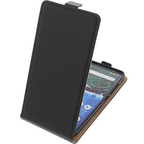 foto-kontor Tasche für Bq Aquaris X2 / X2 Pro Smartphone Flipstyle Schutz Hülle schwarz