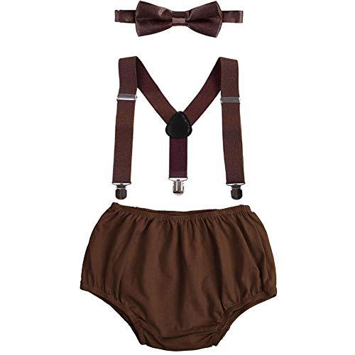 FYMNSI Conjunto de tirantes ajustables con espalda en Y + pajarita + funda para pañales, pantalones cortos, 3 piezas
