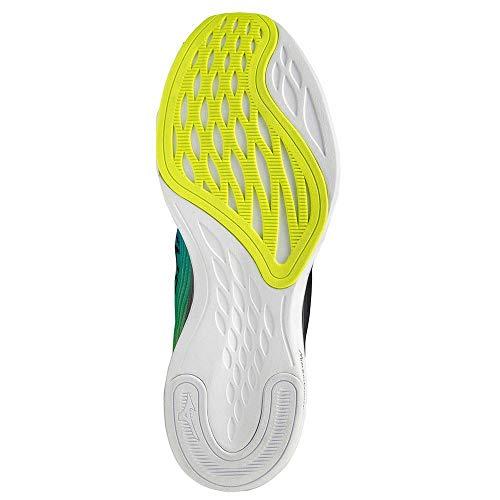 Mizuno Wave Shadow 4, Zapatillas para Correr de Carretera Unisex Adulto, Black/Blue/Safety Yellow, 42.5 EU