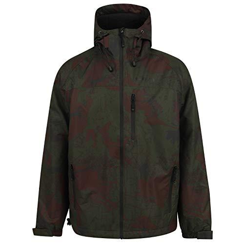 Navitas gefütterte Regenjacke für Angler Herren Scout 2.0 Camo Jacke - Angeljacke Camouflage wasserdicht, Größe:3XL