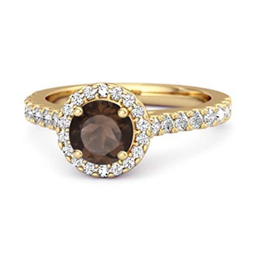 Shine Jewel Multi Elija su Piedra Preciosa Anillo De Acentos Solitario Chapado...