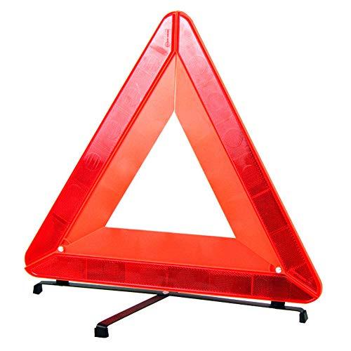 XuBa luchtregeling, reflecterende waarschuwingsborden voor statief, automatisch, inspectiepakket op een driehoekige box, groot Eén maat Rood