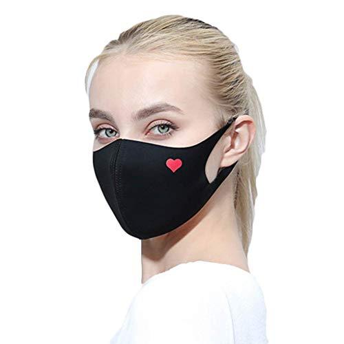 Zolimx Anti Verschmutzung Pollen Staub Mehrweg Mundschutz für Radfahren Reiten Staubdicht Outdoor Frauen Waschbar Wiederverwendbare Schutz Drucken Gesichtsschut (D)