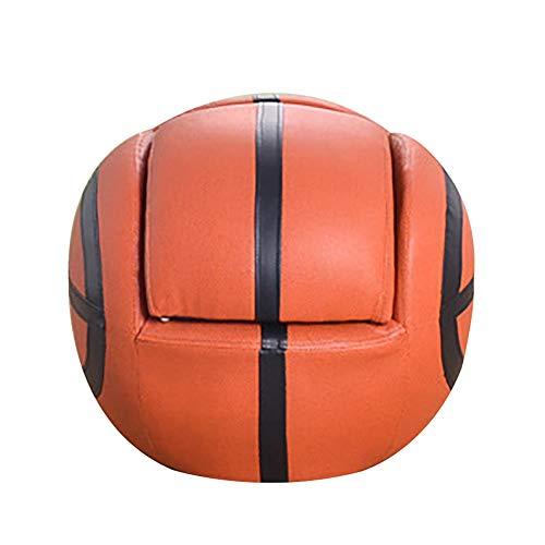 Softneco Basketball-förmigen Kinder Sofa mit hocker, Pu Leder Freizeit Stuhl Couch Sessel möbel Weiche lagerschwelle-Sofa-Bett-Basketball 52 x 48 x 43cm