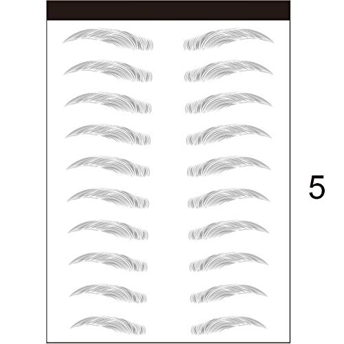 YZCH Eyebrow Stamp,Eyebrows Sticker,3D Stick-On Eyebrows Sticker Eye Brow Makeup Decal