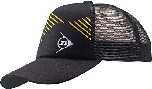 ンロップ(DUNLOP) テニス キャップ&バイザー アメリカンキャップ サイズ調整アジャスター付き ブラック(900) TPH5008