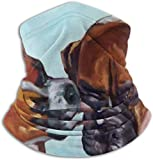 Miedhki Boxer Hunde Pet Portrait Unisex Winter Nackenwärmer Gamaschen Haarband Kaltes Wetter Tube Gesichtsmaske Thermal Halstuch