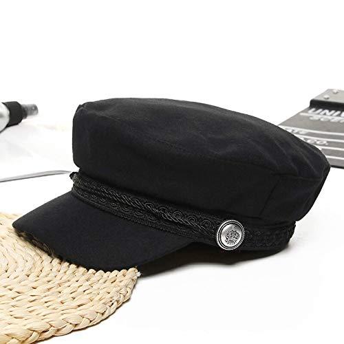 WAZHX Sombreros De Invierno para Mujer Sombrero De Panadero De Lana De Estilo Francés Nuevo Gorra De Béisbol para Mujer Fresca Sombrero De Visera Negro Negro