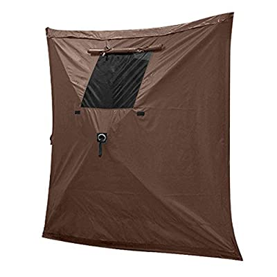 """MASTERCANOPY Escape Shelter Side Panels for 150""""x150"""" Screen Room, Tear Resistant Durable Side Panels, Fire-Retardant Screened Window, Brown (1 Pack)"""