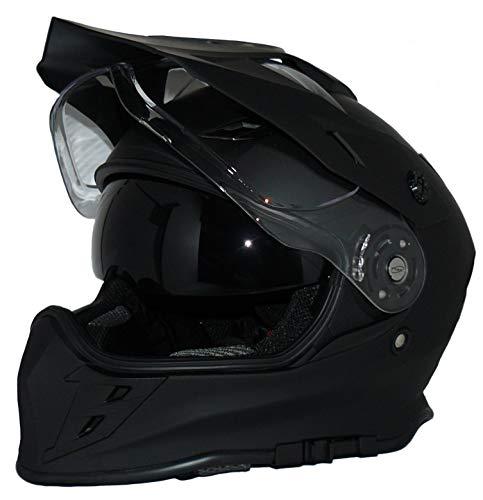 protectWEAR Crosshelm Endurohelm Motorradhelm mit integrierter Sonnenblende und Visier V331-SM-S