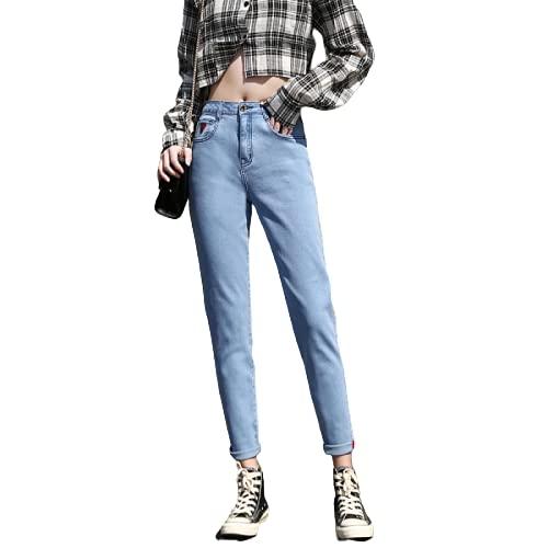 Pantalones Vaqueros deliciosos para Mujer, Cintura Media, Lavado a la Piedra, Que Adelgaza instantáneamente, Tendencia elástica, Color sólido, tamaño Grande 30