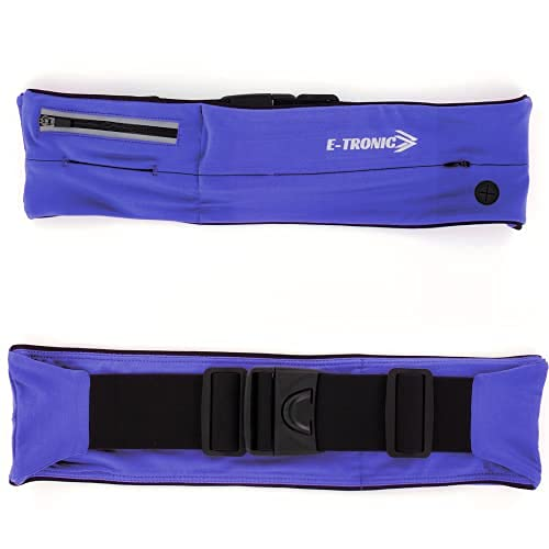E Tronic Edge Running Belt for Women & Men - Money Belt and Running Fanny Pack, Holder for Cell Phone, Money, and Keys - Pouch fits Most Phone and Waist Sizes, Purple