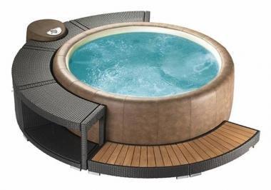 Marinoir 5/8-Whirlpoolumrandung mocca für Softub 300 Resort & 220 Legend, 5/8 Umrandung 220 Legend mocca