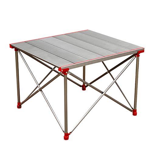 N / A Tragbarer Klapptisch für den Außenbereich, Leichter Picknicktisch, hochwertiges Aluminiumlegierungsmaterial in Luftfahrtqualität, wasserdicht, wetterbeständig, leicht abzuwischen