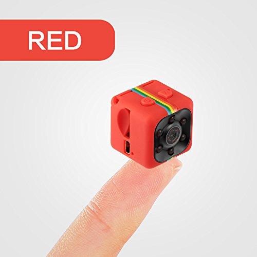 Beautiful Pine Hermosa cámara Oculta del Kiefern-1080P Minispion, cámara de vigilancia inalámbrica con detección de Infrarrojos, 140 Grados de ángulo Amplio de detección de Movimiento, Rojo