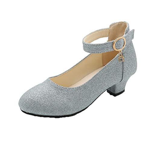 Zapatos de Princesa para niñas Ligeros Antideslizantes de tacón bajo Zapatos de...
