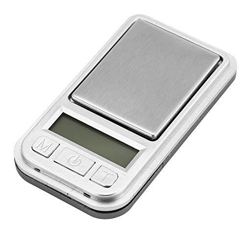 Mini balanza digital de bolsillo 200g 0.01g Medición de peso de precisión para cocina Joyería Farmacia Pesaje de tara de oro