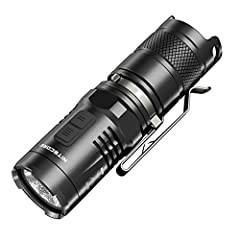Utilizes a CREE XM-L2 U2 LED Maximum output up to 920 lumens Integrated metal micro textured reflector for optimal peripheral illumination Boasts a peak beam intensity of 9,000 cd and a throw distance of up to 190 meters Comes with NiteCore IMR 18350...