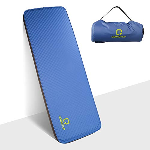 QOMOTOP Auto-Inflating Camping Mattress,Single/Double Size Auto-Inflation Camping Sleeping Air Pad