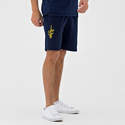 A NEW ERA NBA Team App Pop Logo Short CLECAV–Pantaloncini Línea Clevelan Cavaliers, Unisex Adulto, Blu (Nvy)