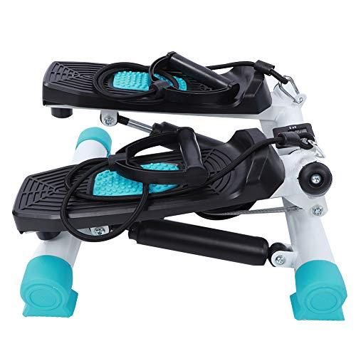 Mini Stepper con bandas de resistencia, ajustable Cardio Stair Stepper Stepping Machine Pierna adelgazante Step Training Pedal de ejercicio Equipo de ejercicio físico con monitor LCD para interior dom