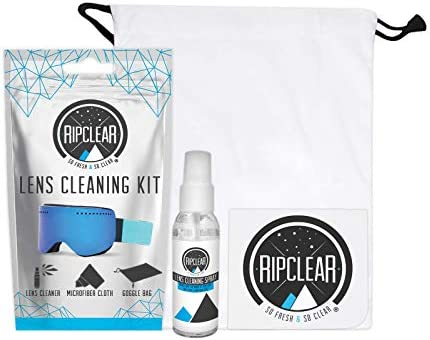 RIPCLEAR Lens Cleaning Kit Goggle Lens Cleaner Microfiber Cloth Clean Your Goggles Sunglasses product image