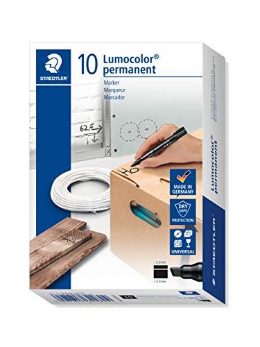 Staedtler 350-9 - Marker Lumocolor, permanent, Keilspitze, schwarz