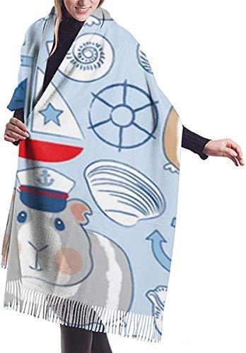 NA zeeman cavia varkens blauwe Womens sjaal grote zachte zijdezachte Pashmina kasjmier sjaal wrap