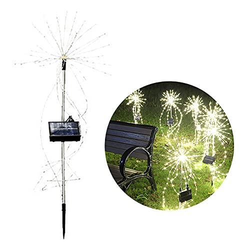 Luces de fuegos artificiales, luces de cadena de hadas LED coloridas Solar Starburst Lights Mteteor Light Impermeable con control remoto, Luz estrellada para jardín Partido Patio Christmas Multicolor