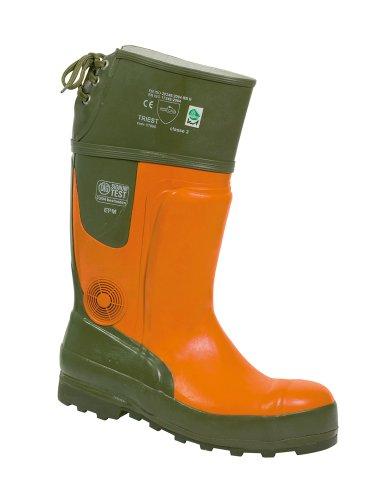 Feldtmann 35510/GR.42 Sägeschutz-Stiefel Größe42 Ulme, oliv/orange