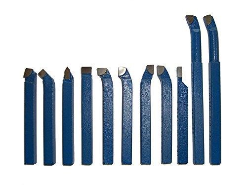 PAULIMOT Drehmeißel-Set 11-teilig mit Hartmetallplatten P30, DIN 4976, 12 mm