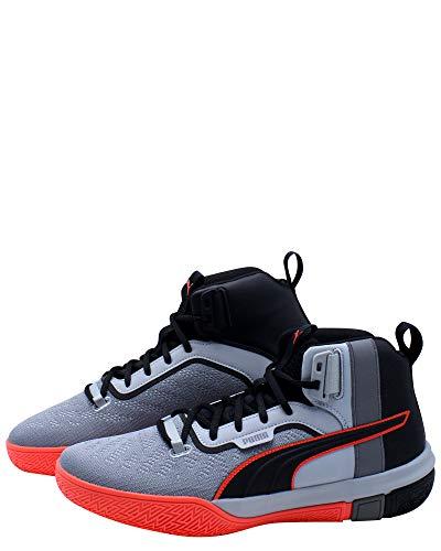 PUMA Zapatos de baloncesto Legacy Disrupt para hombre, gris (Puma Negro/Rojo Negro), 40 EU