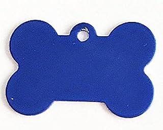 Polykor Useful Bone-Shaped Dog Tag Leash Pendant Tag Collar Accessories(Blue