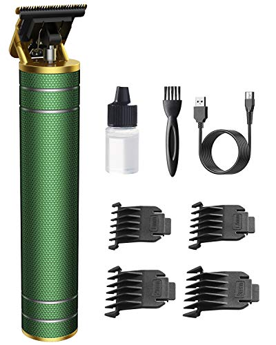 Easy Trim Rasierer, OriHea Pro t Kabelloser T-Klingen - Trimmer Haarschneidemaschine Profi 0mm Haartrimmer Mit USB Wiederaufladbarer Apparat, Konturenschneider Detailer Haarschneider(Grün)