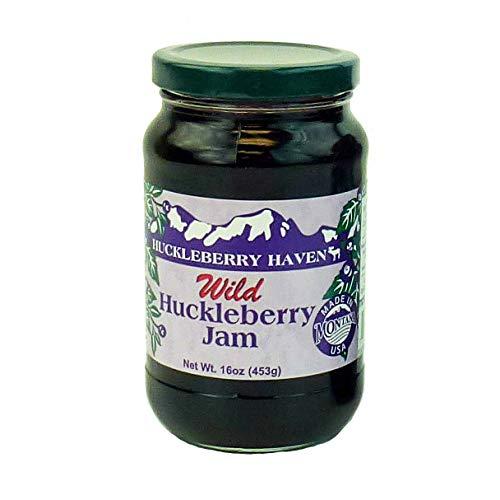 Wild Huckleberry Jam, 16 ounces by Huckleberry Haven, Inc.